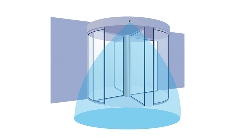 Revolving door sensor application